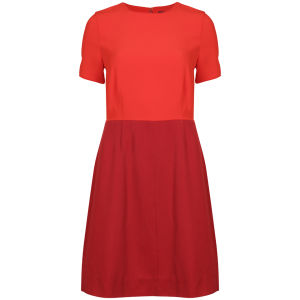 Marc by Marc Jacobs Women's Spongey Wool Twill Short Sleeve Dress - Red Pepper