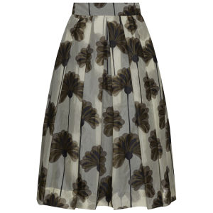 Orla Kiely Women's Giant Wallflower Print Organza Skirt - Graphite