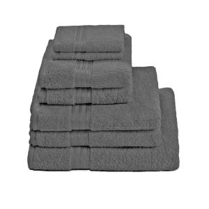Restmor 100% Egyptian Cotton 7 Piece Supreme Towel Bale Set ( 500gsm) - Charcoal