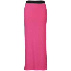 Influence Women's Jersey Maxi Skirt - Hot Pink