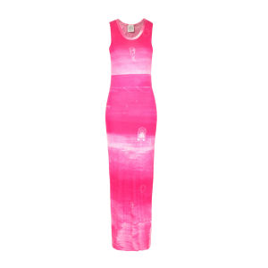Draw In Light Women's 11 Basic Maxi Dress - Pink Noise