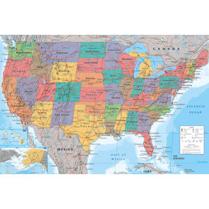 USA Map - Maxi Poster - 61 x 91.5cm
