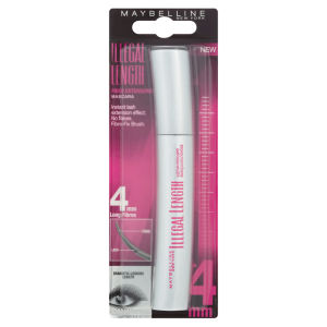 Maybelline New York Illegal Length Fibre Extensions Mascara - 4mm Long Fibres (6.9ml)