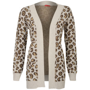 Influence Women's Leopard Print Knitted Cardigan