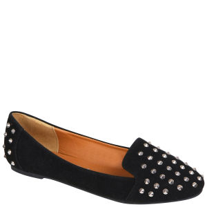 Love Sole Women's Studded Pumps - Black/Silver