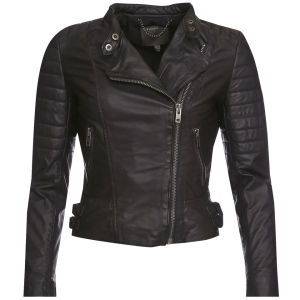 Muubaa Women's Abila Quilted Biker Jacket - Black