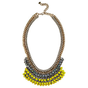 Nocturne Women's Ann Chain/Beaded Necklace - Lemon