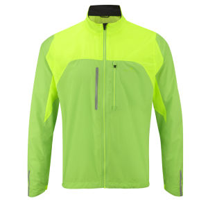 RonHill Men's Vizion Windlite Running Jacket - Fluorescent Green/Fluorescent Yellow