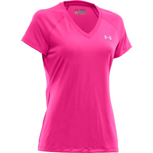 Under Armour Women's Tech T-Shirt - Pink Adelic/Iridescent Blue