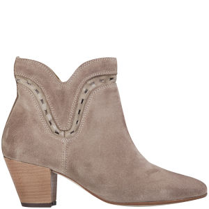 H Shoes by Hudson Women's Rodin Suede Heeled Ankle Boots - Stone