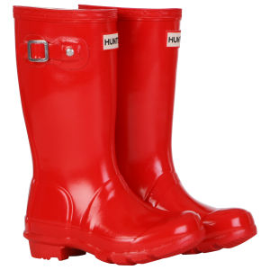 Hunter Kids' Original Gloss Wellies - Pillar Box Red