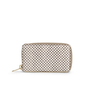 Sophie Hulme Mini Gold Spine Snake/Leather Wallet - Chequered Snakeskin