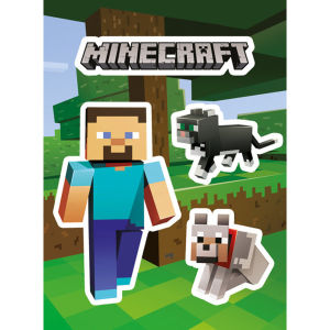 Minecraft Steve and Pets - Vinyl Sticker Pack