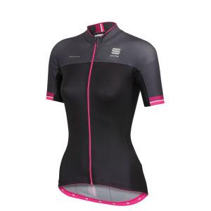 Sportful BodyFit Pro Women's Short Sleeve Jersey - Black/Purple/Pink