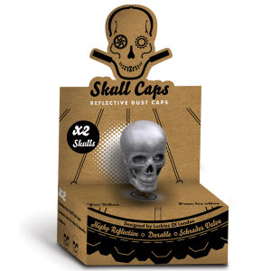 Skull Shaped Reflective Dust Caps
