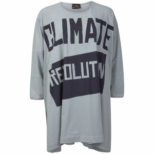 Vivienne Westwood Anglomania Women's Climate Revolution Elephant T-Shirt - Light Blue/Grey