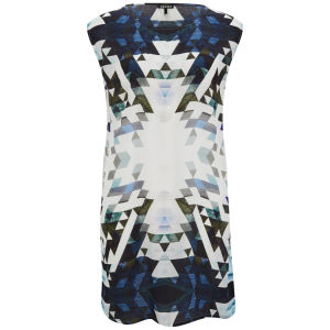 2nd Day Women's Geometric Printed Dress - Blue Print