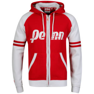 Penn Men's Zip Thru Loo Hoody - Red/White/Red