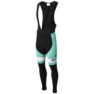 Bianchi Men's Vittoria Bib Tights - Black/Celeste/White
