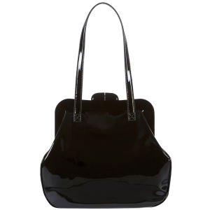 Lulu Guinness Mid Pollyanna Patent Leather Bag - Black