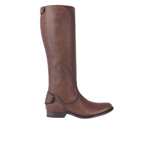 Frye Women's Melissa Button Knee High Leather Boots - Brown