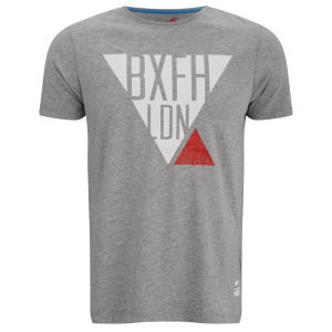 Boxfresh Men's Lacuna Triangle Graphic T-Shirt - Grey Marl