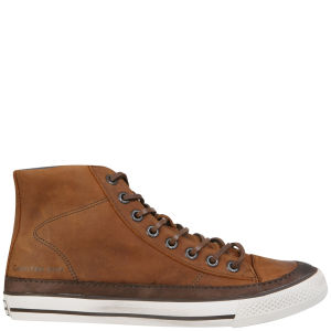 CK Jeans Men's Omero High Top Trainers - Tan/Dark Brown