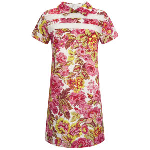 LOVE Women's Contrast Shift Dress - Tapestry Foral