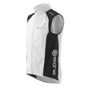 Skins Men's Wind Vest - White/Black