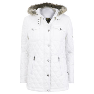 Le Breve Women's Gossip Hooded Jacket - White