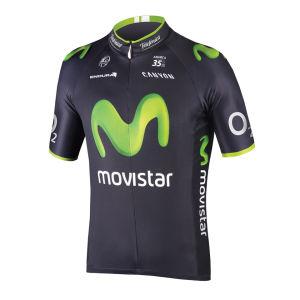 Movistar Team Limited Edition Tour Short Sleeve Jersey - Blue 2014