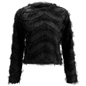 Vero Moda Women's Hairy Knitted Jumper - Black