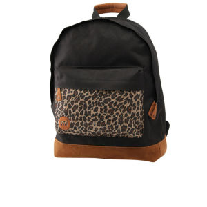 Mi-Pac Leopard Print Pocket Backpack - Black