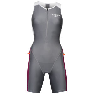 Speedo Women's Triathlon Suit - Dapple Grey/Berry
