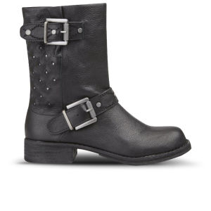 Sam Edelman Women's Bevin Leather Biker Boots - Black