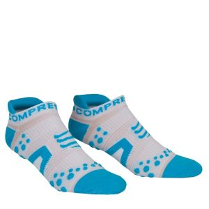 Compressport Pro Racing Socks - Run (Lowcut) - White/Blue