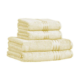 Restmor 100% Egyptian Cotton 4 Piece Supreme Towel Bale Set (500gsm) - Ivory