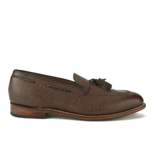 Grenson Men's Scott Leather Tassel Loafers - Dark Brown