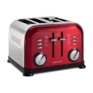 Morphy Richards 4 Slice Accents Toaster - Red