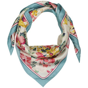 Joules Bloomfield Floral Printed Scarf - Creme Sunbird