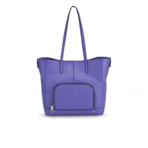 MILLY Astor Pebble Leather Tote Bag - Blue