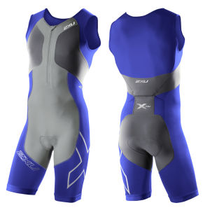 2XU Men's G:2 Compression Trisuit - Nautic Blue/Charcoal