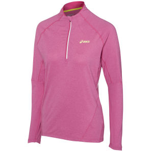 Asics Women's Jersey Long Sleeve 1/2 Zip Running Top - Magenta Heather