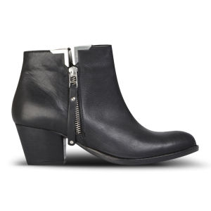 Carvela Women's Scampy Heeled Leather Ankle Boots - Black