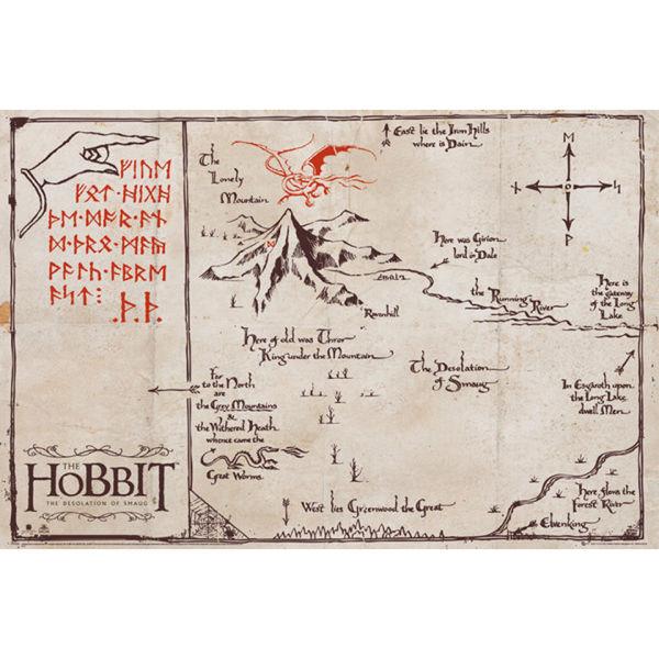 The Hobbit Mountain Map - Maxi Poster - 61 x 91.5cm