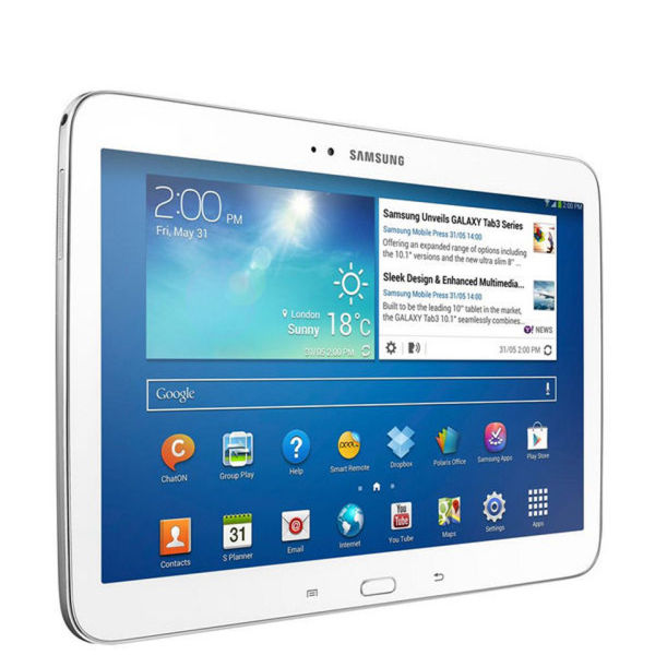 samsung galaxy tab 3 wifi 10 1 inch tablet 16 gb white. Black Bedroom Furniture Sets. Home Design Ideas