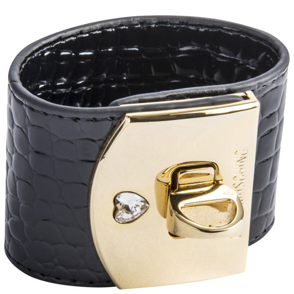 Love Moschino Women's Cuff Bracelet - Black