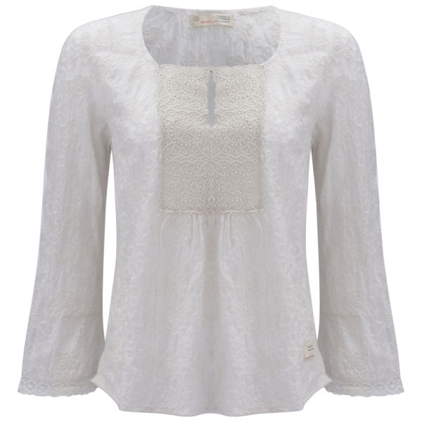 Odd Molly Women's Rethinker Blouse - Light Chalk