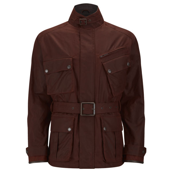 Knutsford Men's 4 Pocket Wax Cotton Field Jacket - Rust
