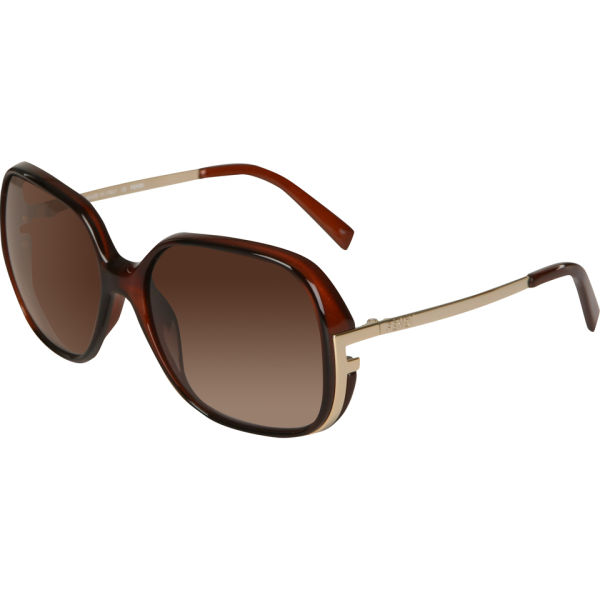 Fendi Oversized Round Sunglasses - Dark Brown